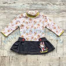 Платье WWW комбинированное для девочки 6-18 мес.