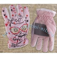 Перчатки утеплённые синтепоном 4-6 лет